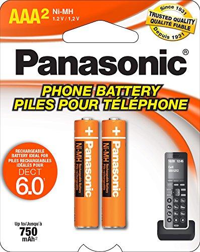 Panasonic auténtica AAA NiMH Pilas Recargables para teléfonos inalámbricos DECT