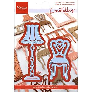 Marianne design creatable sedia e lampada cutting die for Sedia design amazon