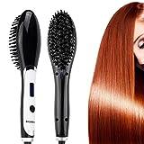 BROADCARE Anion Haarglätter Bürste Massage Stylingbürste Antistatische Haarbürste Glätter mit LCD Display