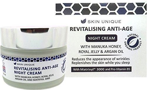 Revitalisierende Anti-Age-Nachtcreme 50 ml - Natürliche & Organische Anti-Aging-Formel - mit Manuka...