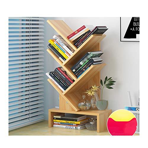 STAR-OFFICE Bücherregal Baum Schwimmende Regale Einfache Standregale Kreatives Bücherregal - 30 * 19 * 66cm (Color : Wood) - Schwimmenden Office Regalen