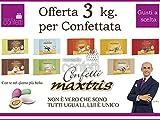 Confetti Maxtris Kit da 3 Kg. per Confettata o Bomboniere 3 GUSTI diversi