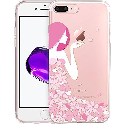 iPhone 7 Plus Hülle (5,5 Zoll), ESR® Mania Series Transparent Weiche Silikon Hülle Muster TPU Bumper Case Schutzhülle für iPhone 7 Plus (Hase) Mädchen
