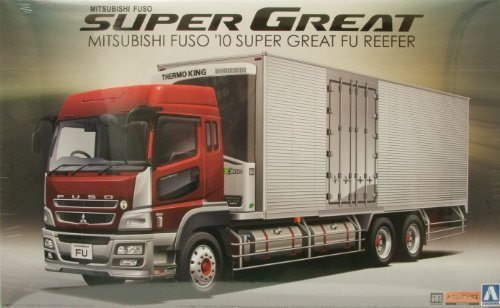 1/32 Mit FUSO Reefer Truck with Side Cargo Doors by Aoshima