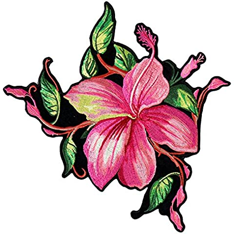 Hot Leathers, BIG FLOWER, High Thread Embroidered Iron-On / Saw-On Rayon PATCH - 4