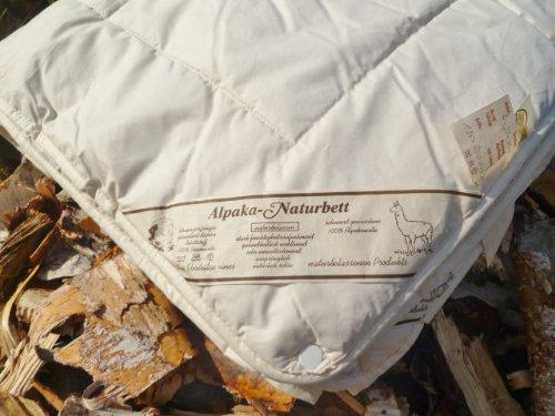 Bettdecke Winter 100%ALPAKA/Lama 155x220cm Qualitäts-Naturbett warm