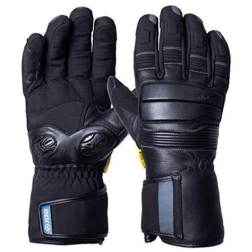 KNOX Hand Armour Storm - Guantes para motocicleta, color negro