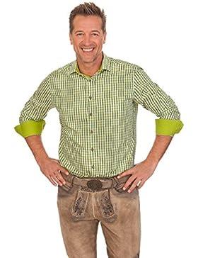 Trachtenhemd mit langem Arm - NIKOLAI - grün