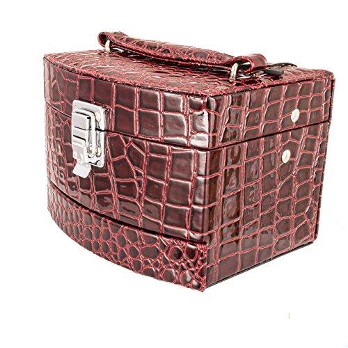 Schmuckschatulle Schmuckkästchen Schmuckkoffer Schmuckkasten mit Spiegel Box Schmuck Aufbewahrung #1128