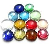 Lot: 14mm (4/17,8cm) superbe Plat billes en verre perles boules Décoration pour aquarium Aménagement paysager Multicolor Choix + Livraison Gratuite