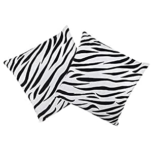 VISHAL INDIA CRAFT Cotton Cushion Cover (White)-Set of 2