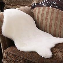 yazi tapis effet peau de mouton en fausse fourrure 60 - Tapis Peau De Mouton