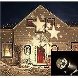 lampada del proiettore luce di Natale luci decorative luce impermeabile del LED stelle paesaggio per Albero di Natale Giardino terrazza Casa arredamento--luci di inondazione bianca - HITOP - amazon.it