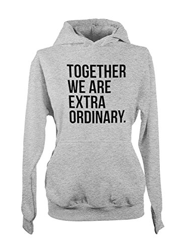 Together We Are Extraordinary Friends Couple Cool Femme Capuche Sweatshirt Gris