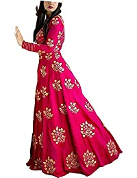 Alisha Fab Women's Silk Empire Lehenga Choli Christmas Special Offer (Pink Dulhan_Free Size Semi-Stitched)