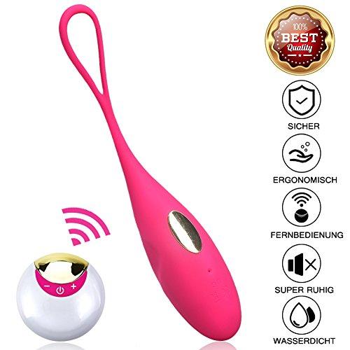 Vibrationssprung Ei & Kegel Bälle Drahtlose Fernbedienung Stark Vibrierende Massager Ball Vibrator für Frauen Adult Sex Produkt für Frau (Rosa)