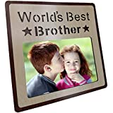 [Sponsored]Art Street Wood Engraved Personalized World's Best Brother Photo Frame, Picture Frame - Birthday Gift- Photo Size 4x6 Inchs