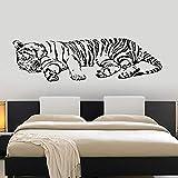 hllhpc Mur l Decal Tiger Dormir Jungle Afrique Predator Cool Décoration Intérieure...