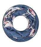 Majea super weicher Damen Loop Schal viele Farben Muster Schlauchschal Halstuch in aktuellen Trendfarben (navy 26)