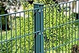 20 m Zaun Matte 1630 mm Doppelstab Grün RAL 6005 Gartenzaun 1,6 m hoch neu