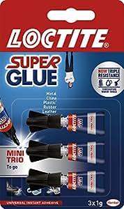 LOCTITE Super Glue Mini Trio 3 X 1g Tube