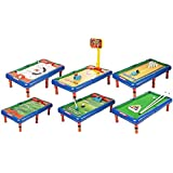 Happy GiftMart 6 In 1 Ice Hockey, Bowling, Basket Ball, Golf, Football And Snooker Game Fun Indoor Game Board Toy