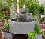Emelie aus Granitwerkstein inkl. Pumpe Gartenbrunnen Wasserspiel Steinbrunnen Felsbrunnen