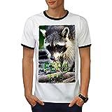 Alimentation Moi Raton laveur Animal Mignonne Visage Homme XL T-shirt à sonnerie | Wellcoda