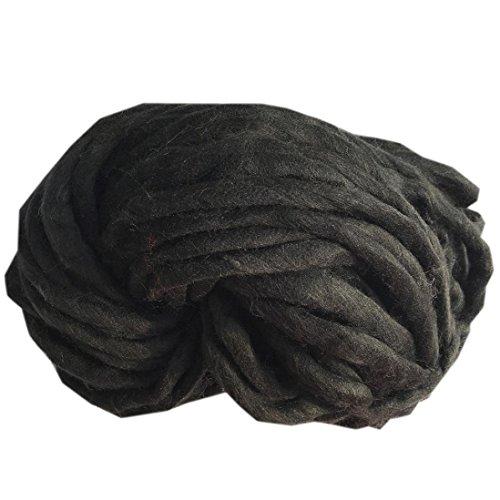 Xshaui 20 * 20 * 20 cm Wolle Garn Super Weiche Sperrige Arm Stricken Wolle Roving Häkeln DIY für Pullover hüte schals decke (E) (Reinigungs-wolle Pullover)