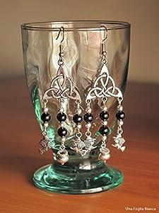 Pendientes triquetra bruja caldero handmade