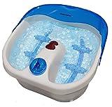 Steinborg SFM-1020 Fußsprudelbad | Fußmassage | 4 Fuß - Reflexzonen - Massage | Whirlpool-Effekt | Infrarotwärme | Wärmemassage für Füße | Fußmassagegerät | Fußbadewanne | 3 Programme (Blau/Weiß)