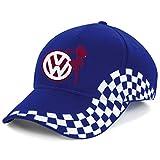 VW Volkswagen Sexy Girl Bestickte Grand Baseball Cap Mütze -1088Blau