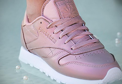Reebok Classic Leather Pearlized Donna Sneaker Rosa rose gold/white