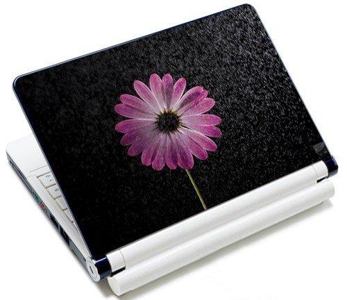 MySleeveDesign Notebook Skin Aufkleber Folie Sticker für Geräte der Größe 10,2 Zoll / 11,6 - 12,1 Zoll / 13,3 Zoll / 14 Zoll / 15,4 - 15,6 Zoll mit VERSCH. DESIGNS - Flower Purple