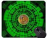 Yanteng Tappetino per Mouse da Gioco, Tappetino per Mouse con Base in Gomma Antiscivolo Money Bitcoin