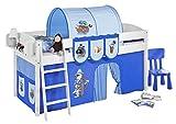 Lilokids IDA4105KW-PIRAT-BLAU-S Kinderbett, Holz, pirat blau, 208 x 98 x 113 cm