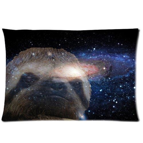 e Design Style Tuch Simulation Faultier Nebel Galaxy Space Universe Kissen Displayschutzfolie, Best Kissen Bezug–Standard Größe 50,8x 76,2cm eine Seite Druck, Textil, 16 X 24 inch One side printing, 16 X 24 inch (Galaxy Großhandel)
