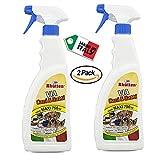 Rhutten 2 x Spray Repellente Via Cani e Gatti 750 ml- per Educare Disabituare Animali Domestici o Randagi - Uso Interno Esterno