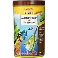 sera 00175 vipan Großflocken 1000 ml -  der Klassiker - Hauptfutter für alle Zierfische in Gesellschaftsaquarien, Flockenfutter, für schönere und größere Fische