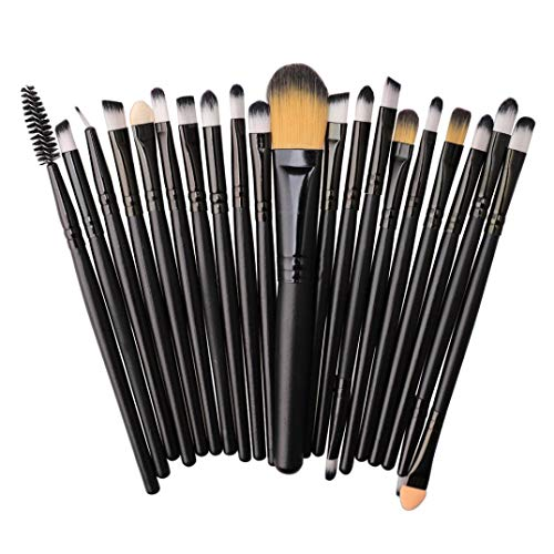 TAOtTAO 20 stücke Make-Up Pinsel Set werkzeuge Make-up Kulturbeutel Wolle Make-Up Pinsel Set (F)