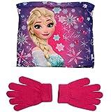 Frozen - Die Eiskönigin Kollektion 2017 Snood Schlauchschal Schal und Handschuhe 5 - 8 Jahre One Size Loop Kragenschal mit Fleecefutter Anna und Elsa (5 - 8 Jahre, One Size)