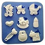 Moule en silicone pour l'alimentation de 9 accessoires pour enfants - berceau -...