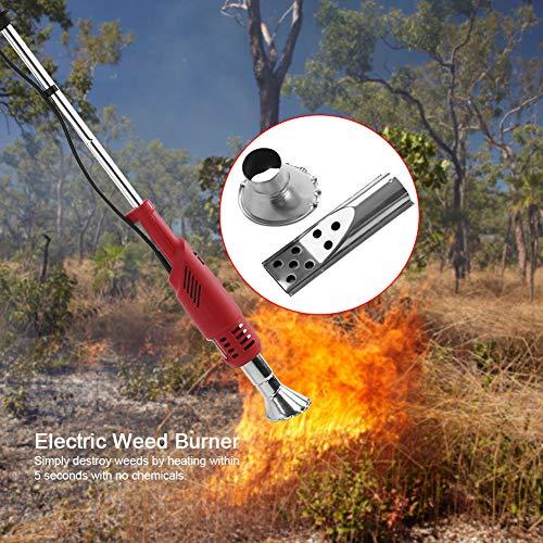 GOTOTOP 2000W Chalumeau Désherbeur Electrique Bruleur Mauvaises Herbes Electrique en 5 Secondes