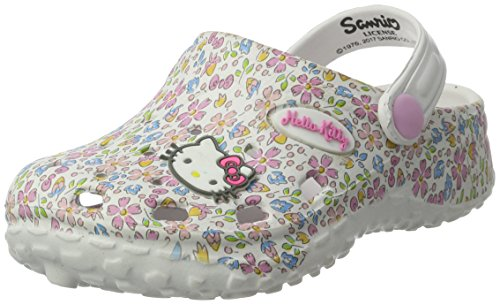 Hello Kitty Girls' Hk Paty Clogs white Size: 10 Child UK