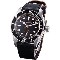 41mm Corgeut Saphirglas Lünette schwarz Miyota Mechanische Automatik Uhr