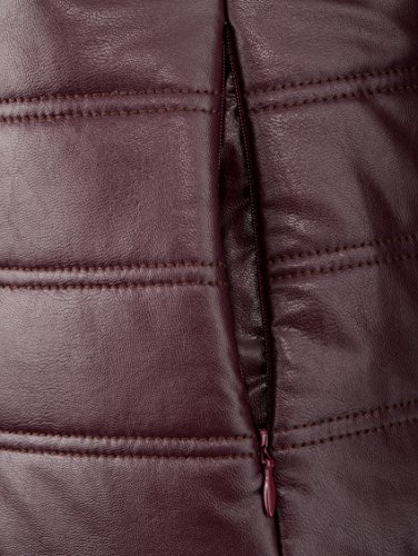 Damen Longjacke aus beschichteter Viskose-Qualität by MONA Aubergine