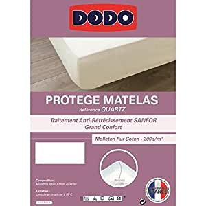 dodo prot ge matelas en molleton 100 coton forme drap housse trait anti r tr cissement 160 x. Black Bedroom Furniture Sets. Home Design Ideas