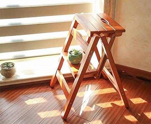 Scaletta in legno massello a gradini sgabello scaletta