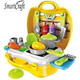 Smartcraft Ultimate Kid Chef Bring Along Kitchen Cooking Suitcase Set (26 Pieces) - Multicolor