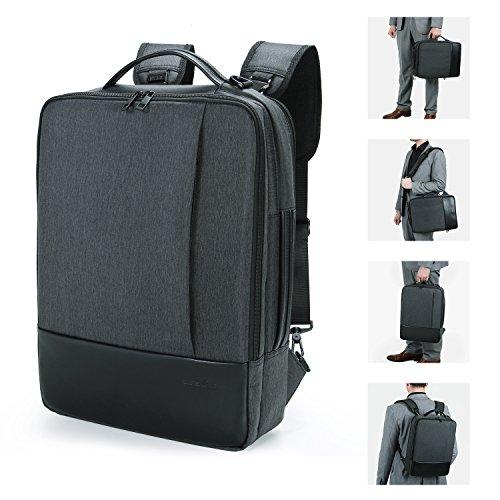Lifewit Sac à Dos Ordinateur Portable, Sac à Bandoulière Laptop 15.6 pouces Backpack Rucksack avec Couverture de Pluie Unisexe Femme Homme pour Randonnée Voyage Scolaire Bureau Trekking (Sac à Bandoulière/Sac à dos( 3-en-1))